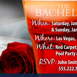 Bachelor TV Show Invitation