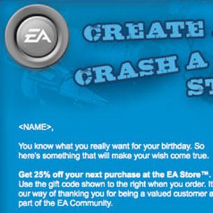 EA Games Email Marketing